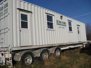 40' site office on trailer